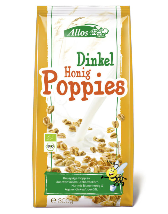 Allos Dinkel Honig Poppies
