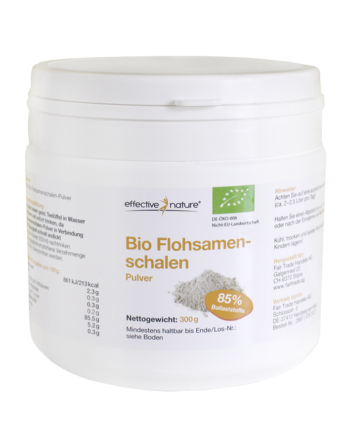 Effective Nature Bio Flohsamenschalen Pulver